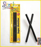 Два черных карандаша, в блистере