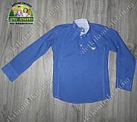 Модная рубашка бренда ARMANI для мальчика электрик