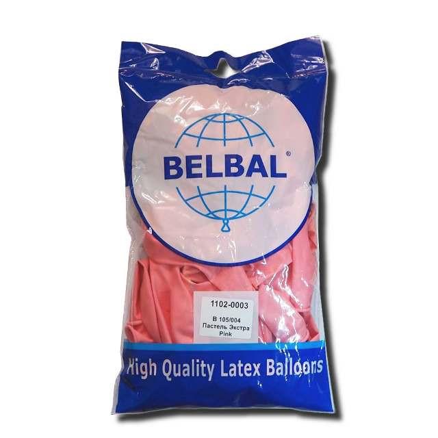 """Розовый пастель 12""""(30 см) Belbal (упаковка 50 шт)"""