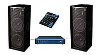 Комплект звука DJ215-PY10XY Sound Division (с ревером, для дискотеки 2000Вт)