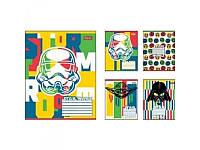 Тетрадь в косую линию 12 листов Star Wars 1 Вересня, А5