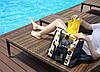 Летняя сумка для пляжа  .Бордо в цветы, фото 3