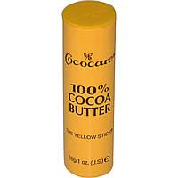 Увлажняющий карандаш Cococare, 100%-е масло какао, 28 г. Сделано в США.