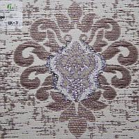 Рулонные шторы День ночь ткань Лилия Орех-серебро