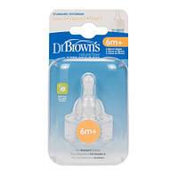 Соска для стандартной бутылочки 3-й уровень, Dr. Brown's Natural Flow® 2 шт./уп. (332)