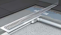 Душевой канал 70х585мм с фланцем, сифон стандартный