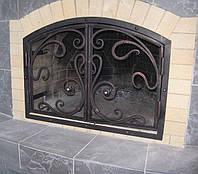 Кованая каминная решетка