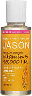 Масло с витамином Е 14, 000 МЕ проявляет мощный антиоксидантный эффект, способствует гладкости и омолож 30 мл     Jason (США)