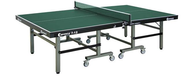 Профессиональный теннисный стол Sponeta S 7-12 master compact. Габариты стола : длина ― 2740 мм, ширина ― 1525 мм, высота ― 760 мм.