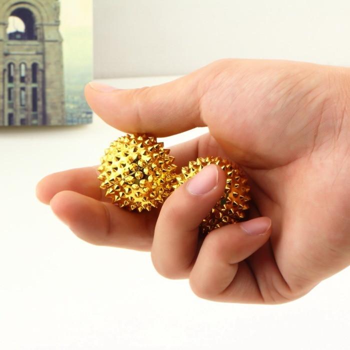 Массажные магнитные игольчатые шарики. Две звезды (2шт) ф32мм