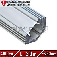 Алюминиевый профиль 23,8 х 10,0 мм