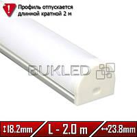 Алюминиевый профиль 23,6 х 18,2 мм