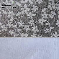 Рулонные шторы День ночь ткань Роксолана Серебро