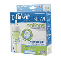 Бутылочка для кормления Dr Brown's Natural Flow® стандарт 120 мл, 3 шт. NEW