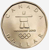Канада - Canada 2010 г. $1 доллар UNCIRCULATED