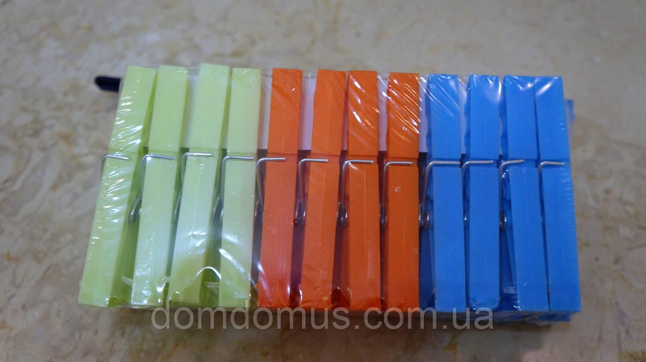 Прищепки бельевые пластиковые, 24 шт., Китай