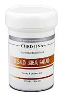 Грязевая маска красоты для жирной кожи Christina Sea Herbal Beauty Dead Sea Mud Mask 250мл