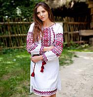 Вышитое платья (ручная робота, домотканая ткань)