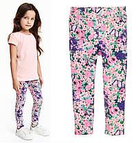 Штаны треггинсы на девочку 1.5, 2, 3, 4, 5 лет Цветочный принт H&M (Англия)