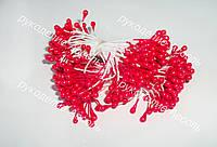 Тычинки красные 25 нитей (50 головок)