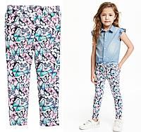 Комфортные штаны треггинсы на девочку 2, 3 года Butterflies H&M (Англия) 8-9
