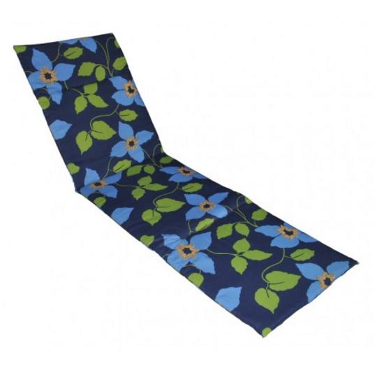 Матрас для лежака Sun 188х58х2 см., синий в голубые цветы