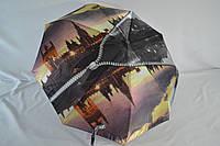Элегантный женский зонтик автомат с городами от фирмы «Popular».