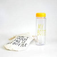 Бутылка MY BOTTLE желтая + чехол., фото 1