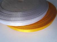 Опт. Вышивка лентами. Лента атлас 0,5 см белая, 23 м
