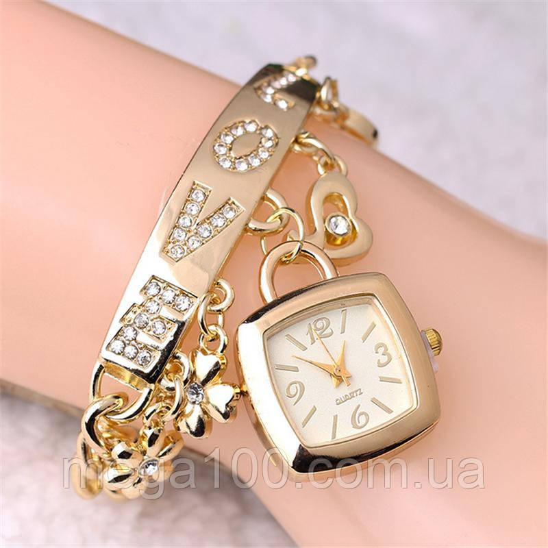 Наручные часы, цвет золотой