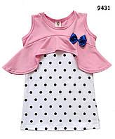 Летнее платье-туника для девочки. 110 см