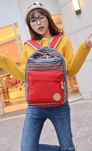 Стильный школьный рюкзак с орнаментом