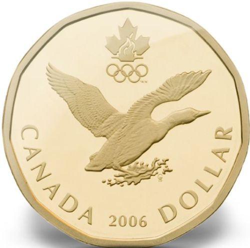 Канада - Canada 2006 г. $1 доллар UNCIRCULATED - Зарубежная Марка Одесса в Одессе
