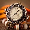 Женский браслет часы кожаный ремешок , фото 2