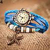 Женский браслет часы кожаный ремешок , фото 3