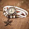 Женский браслет часы кожаный ремешок , фото 7
