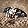 Женский браслет часы кожаный ремешок , фото 8