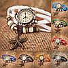 Женский браслет часы кожаный ремешок , фото 9