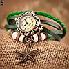 Женский браслет часы кожаный ремешок , фото 10