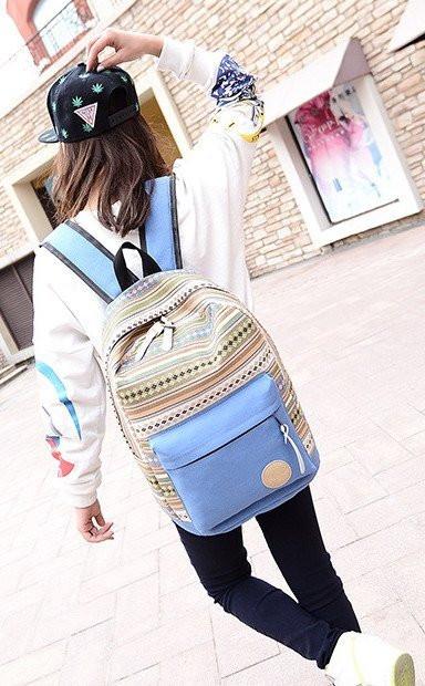 Школьный рюкзак из холста