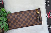 """Женский кошелек в стиле  """"Louis Vuitton"""" (LV) коричневый."""