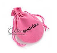 Подарочный мешочек розовый с логотипом Pandora (Пандора) упаковка