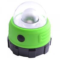 Фонарь для кемпинга Магнит на батарейках зеленый