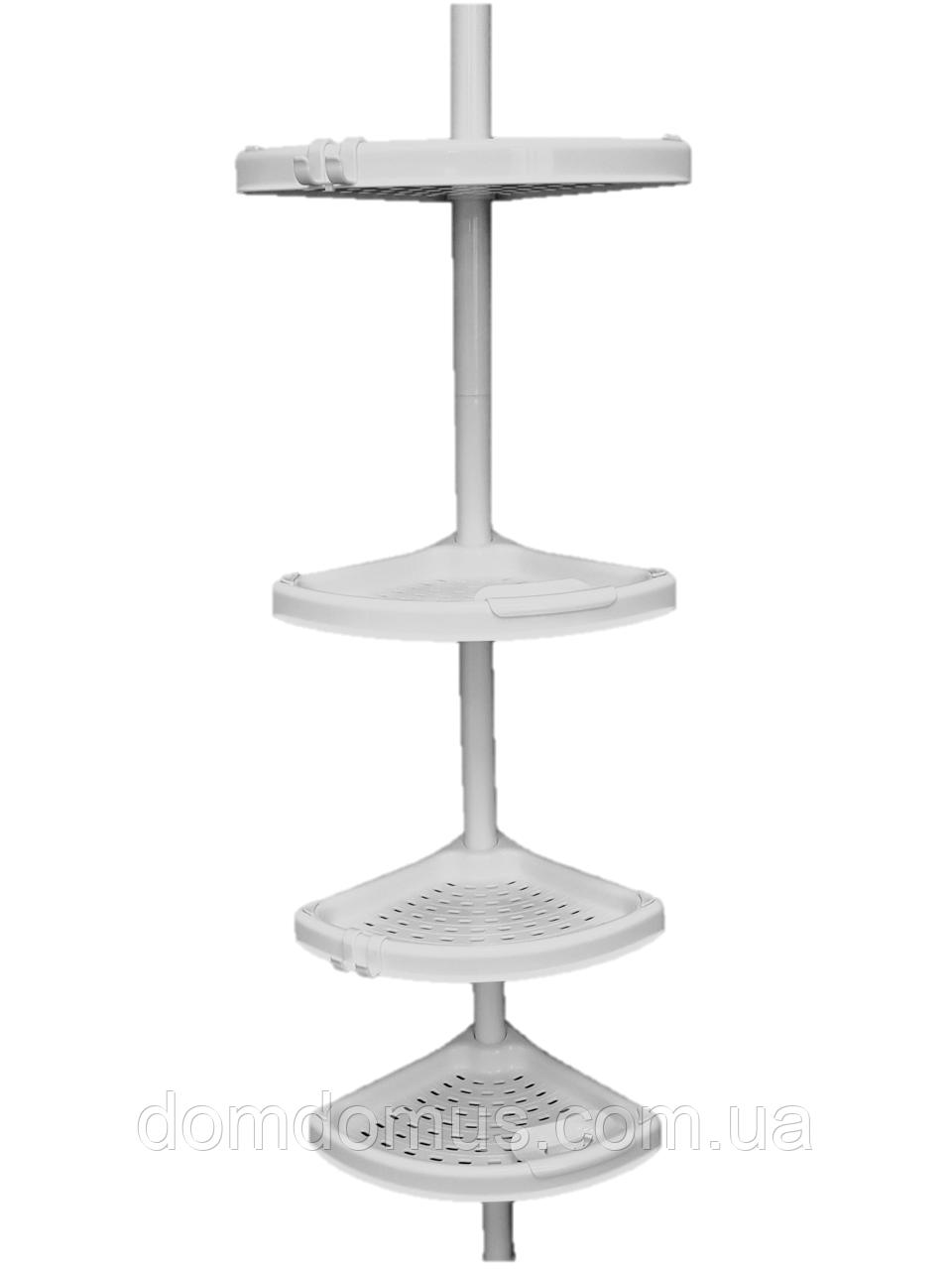 Полка угловая для ванной с телескопической трубкой Primanova, Турция N02-01