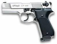 Пневматический пистолет Walther CP88 Nickel 4'' c пластиковой рукоятью