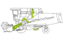 Запчасти на наклонную камеру, систему транспортировки зерна Bizon