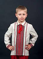 Эксклюзивная вышиванка на мальчика с ярким орнаментом от волынских мастеров