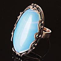 """Кольцо Лунный камень оправа  """"Ажур Маркиз"""" """"  овальный  камень   3,3*1,8см без р-р"""