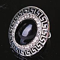 """Кольцо Агат оправа  """"греческая""""  3,1*2,6см овальный камень без р-р"""
