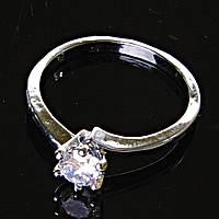 [17,18,19] Кольцо Помолвочное корона с камнем